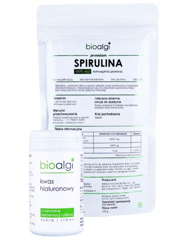Zestaw: Spirulina + Kwas hialuronowy