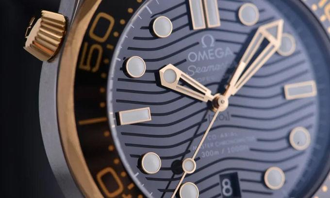 Gold Bezel Omega Seamaster Diver 300M replica watch